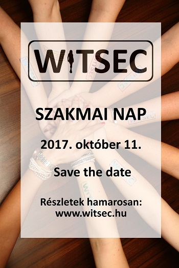 WITSEC 2017.10.11. Save the date